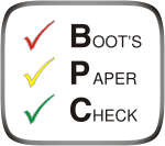Boot´s Paper Check (BPC)